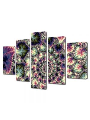 Set Tablouri Multicanvas 5 Piese Abstract Decorativ Perle