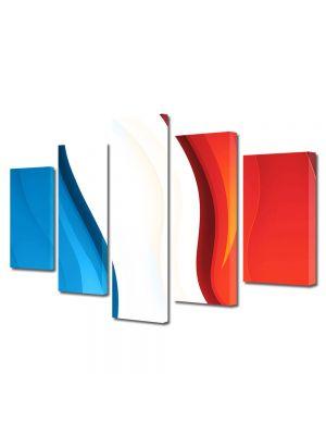 Set Tablouri Multicanvas 5 Piese Abstract Decorativ Franta