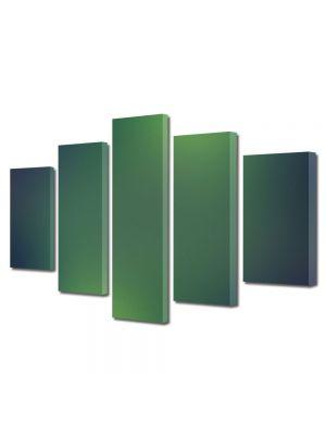 Set Tablouri Multicanvas 5 Piese Abstract Decorativ Lumini verzi