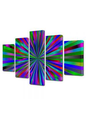 Set Tablouri Multicanvas 5 Piese Abstract Decorativ Spre centru