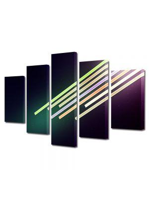 Set Tablouri Multicanvas 5 Piese Abstract Decorativ Dinamic