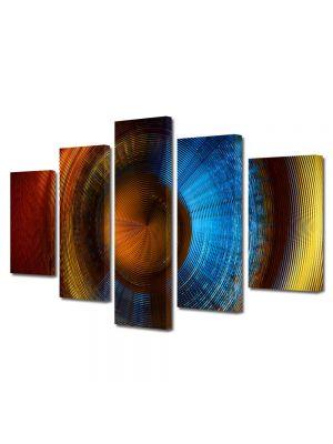 Set Tablouri Multicanvas 5 Piese Abstract Decorativ Membrana