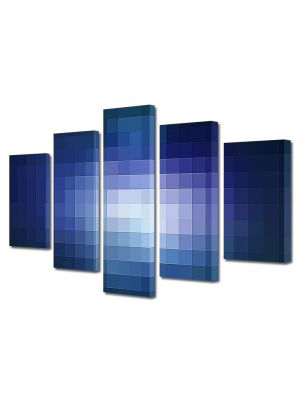 Set Tablouri Multicanvas 5 Piese Abstract Decorativ Lumina pixelata