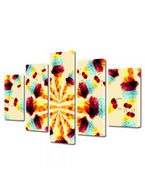 Set Tablouri Multicanvas 5 Piese Abstract Decorativ Supraexpus