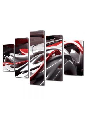Set Tablouri Multicanvas 5 Piese Abstract Decorativ De plastic