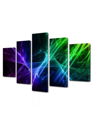 Set Tablouri Multicanvas 5 Piese Abstract Decorativ Energii pozitive