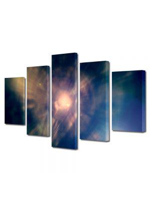 Set Tablouri Multicanvas 5 Piese Abstract Decorativ Centrul Universului