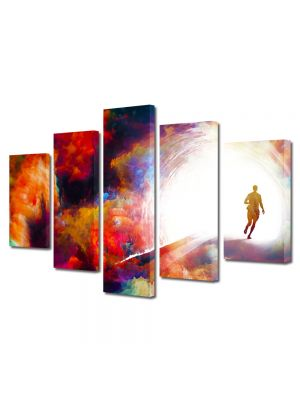 Set Tablouri Multicanvas 5 Piese Abstract Decorativ Fantastic