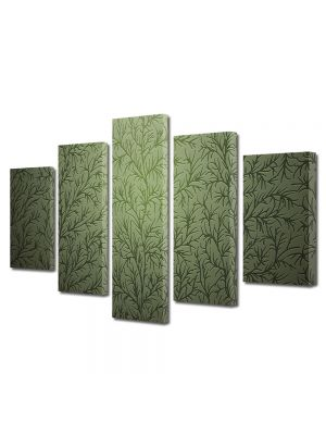 Set Tablouri Multicanvas 5 Piese Abstract Decorativ Tapet cu desene