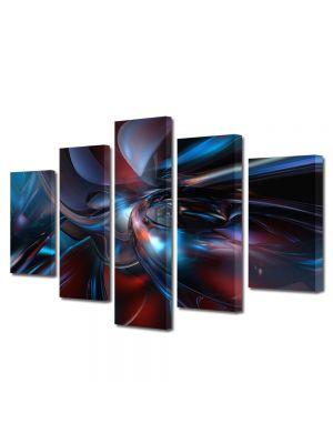 Set Tablouri Multicanvas 5 Piese Abstract Decorativ Fizica