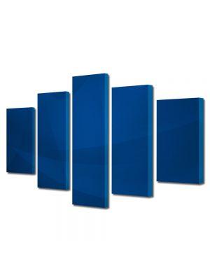 Set Tablouri Multicanvas 5 Piese Abstract Decorativ Vartej albastru