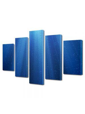 Set Tablouri Multicanvas 5 Piese Abstract Decorativ Raze de lumina sub apa