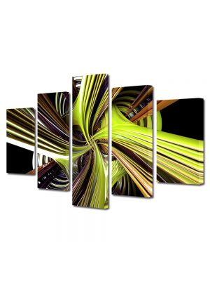 Set Tablouri Multicanvas 5 Piese Abstract Decorativ Vartej
