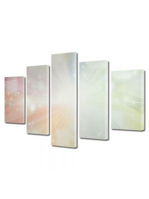 Set Tablouri Multicanvas 5 Piese Abstract Decorativ Lumina puternica