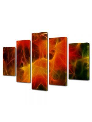 Set Tablouri Multicanvas 5 Piese Abstract Decorativ Panza