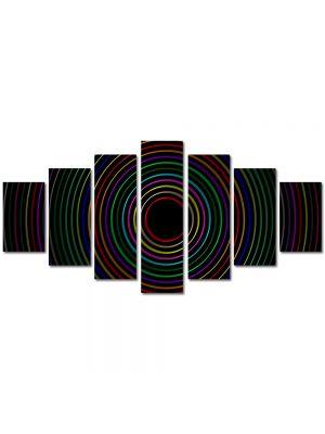 Set Tablouri Multicanvas 7 Piese Abstract Decorativ Cercuri colorate