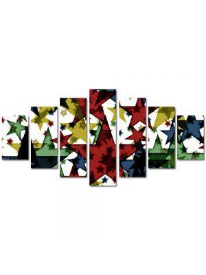 Set Tablouri Multicanvas 7 Piese Abstract Decorativ Stele