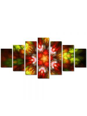 Set Tablouri Multicanvas 7 Piese Abstract Decorativ Forme de lumina