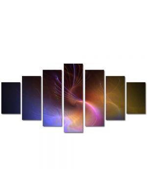 Set Tablouri Multicanvas 7 Piese Abstract Decorativ Galaxie