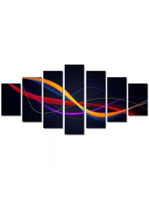 Set Tablouri Multicanvas 7 Piese Abstract Decorativ Spirala ADN