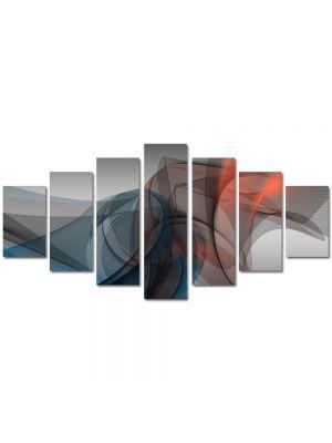 Set Tablouri Multicanvas 7 Piese Abstract Decorativ Forme fine