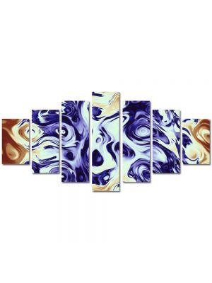 Set Tablouri Multicanvas 7 Piese Abstract Decorativ Pastel