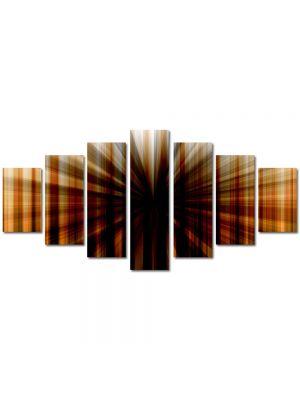 Set Tablouri Multicanvas 7 Piese Abstract Decorativ Gaura neagra