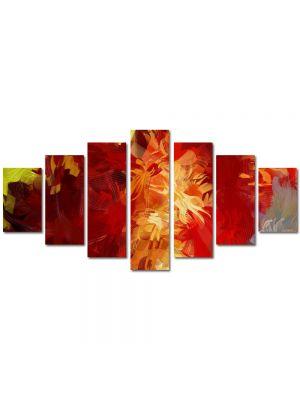 Set Tablouri Multicanvas 7 Piese Abstract Decorativ Culori scurse