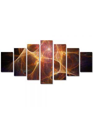 Set Tablouri Multicanvas 7 Piese Abstract Decorativ Univers paralel