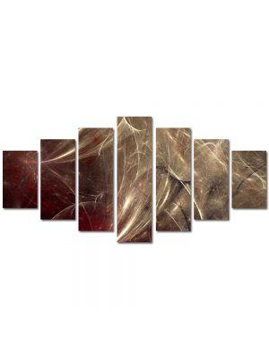 Set Tablouri Multicanvas 7 Piese Abstract Decorativ Aglomeratie