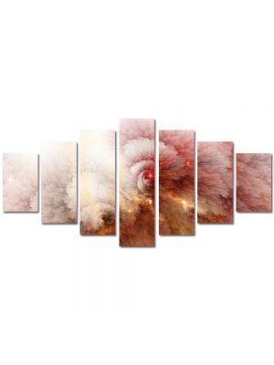 Set Tablouri Multicanvas 7 Piese Abstract Decorativ Explozie