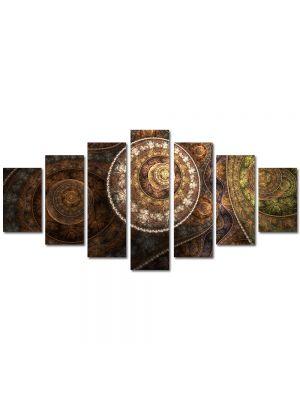 Set Tablouri Multicanvas 7 Piese Abstract Decorativ Vintage