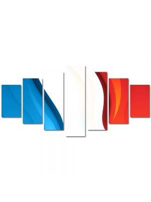 Set Tablouri Multicanvas 7 Piese Abstract Decorativ Franta