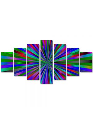 Set Tablouri Multicanvas 7 Piese Abstract Decorativ Spre centru
