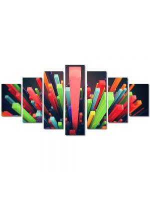 Set Tablouri Multicanvas 7 Piese Abstract Decorativ Zgarie nori abstracti