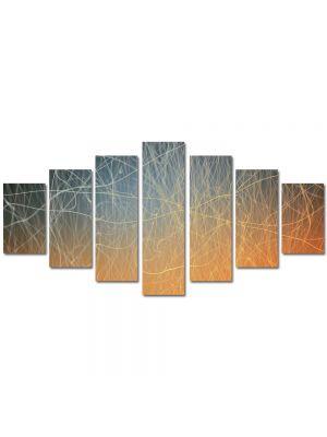 Set Tablouri Multicanvas 7 Piese Abstract Decorativ Tabla zgariata