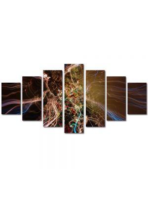 Set Tablouri Multicanvas 7 Piese Abstract Decorativ Spre alta galaxie