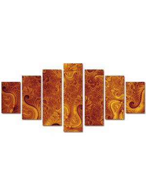 Set Tablouri Multicanvas 7 Piese Abstract Decorativ Pe Marte
