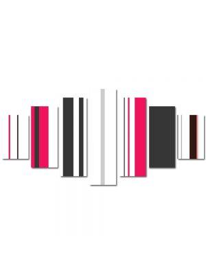 Set Tablouri Multicanvas 7 Piese Abstract Decorativ Tapet