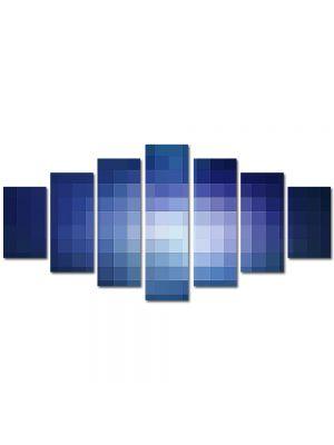 Set Tablouri Multicanvas 7 Piese Abstract Decorativ Lumina pixelata