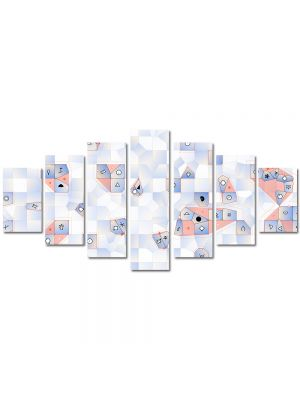 Set Tablouri Multicanvas 7 Piese Abstract Decorativ Joc