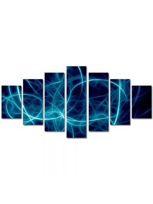 Set Tablouri Multicanvas 7 Piese Abstract Decorativ Joc de lumini