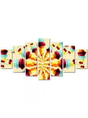 Set Tablouri Multicanvas 7 Piese Abstract Decorativ Supraexpus