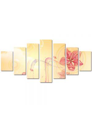 Set Tablouri Multicanvas 7 Piese Abstract Decorativ Floare