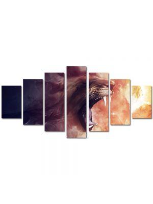 Set Tablouri Multicanvas 7 Piese Abstract Decorativ Furie