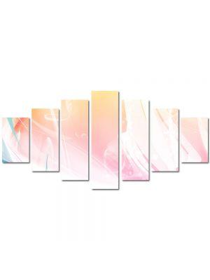 Set Tablouri Multicanvas 7 Piese Abstract Decorativ Decolorat