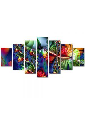 Set Tablouri Multicanvas 7 Piese Abstract Decorativ Colaj trepte
