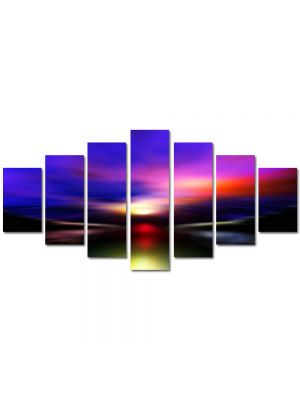 Set Tablouri Multicanvas 7 Piese Abstract Decorativ Aurora Boreala