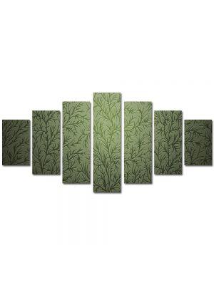 Set Tablouri Multicanvas 7 Piese Abstract Decorativ Tapet cu desene