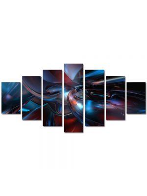 Set Tablouri Multicanvas 7 Piese Abstract Decorativ Fizica
